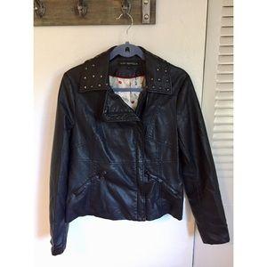 Via Spiga Faux Leather Jacket